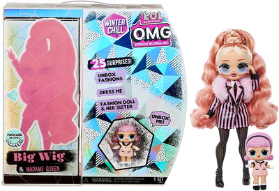 L.O.L LOL Surprise - OMG Winter Chill - BIG WIG fashion doll & Madame Queen Doll with 25+ surprises - PREORDER