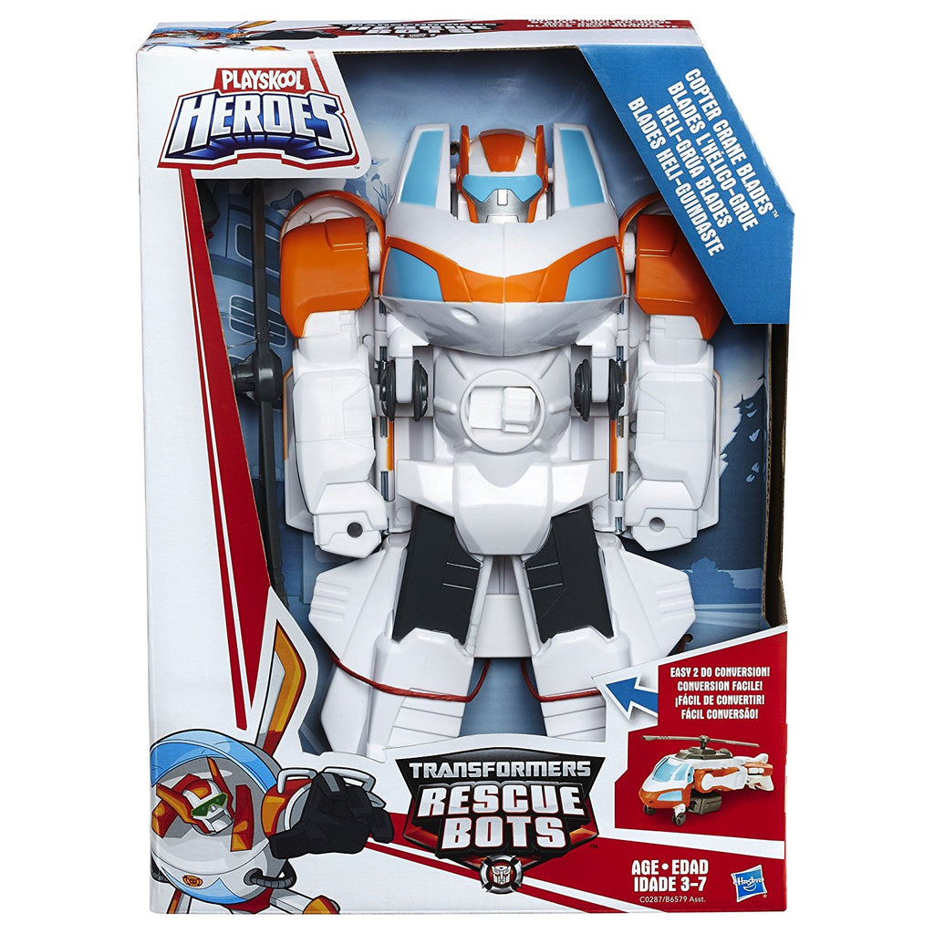 Rescue Bots - PlaySkool Heroes - BLADES - Copter Crane MEGABOT 25cm tall!