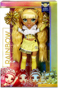 RAINBOW HIGH -  CHEER SUNNY MADISON - Yellow Fashion Doll with Pom Poms, Cheerleader Doll