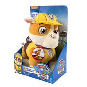 PAW PATROL ~ Deluxe phrases and Sounds 30cm Plush~ REAL TALKING RUBBLE