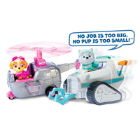 Paw Patrol - Everest's Rescue Snowmobile & Skye's Copter Animal Rescue