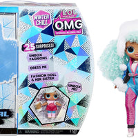 L.O.L LOL Surprise - OMG Winter Chill - ICY GURL fashion doll & BRRR B.B Doll with 25+ surprises