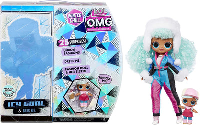 L.O.L LOL Surprise - OMG Winter Chill - ICY GURL fashion doll & BRRR B.B Doll with 25+ surprises - PREORDER