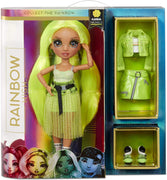 RAINBOW HIGH -  KARMA NICHOLS - NEON GREEN Fashion Doll with 2 Complete Mix & Match outfits