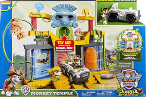 PAW PATROL - Monkey Temple Playset with Tracker in his Jungle Cruiser