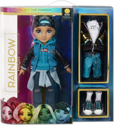RAINBOW HIGH -  River Kendall- TEAL BOY Fashion Doll with 2 Complete Mix & Match outfits