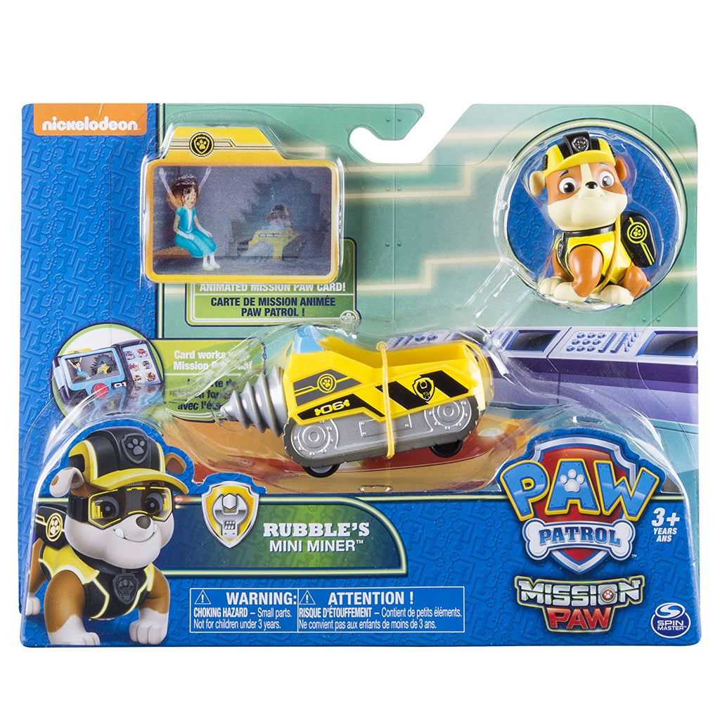 Paw Patrol - Rubbles Rubble's MINI MINER 7 Rubble - Mission Paw