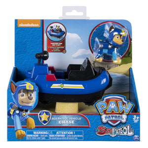 Paw Patrol -  SEA PATROL - Chase's Vehicle & Chase