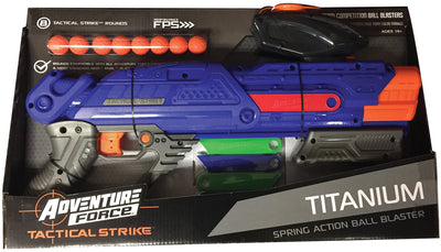 DART ZONE - ADVENTURE FORCE - Titanium Blaster compatible with NERF RIVAL