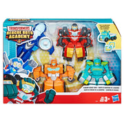 Rescue Bots - Playskool Heroes ACADEMY - WHIRL , HOT SHOT , WEDGE , HOIST - 4 PACK