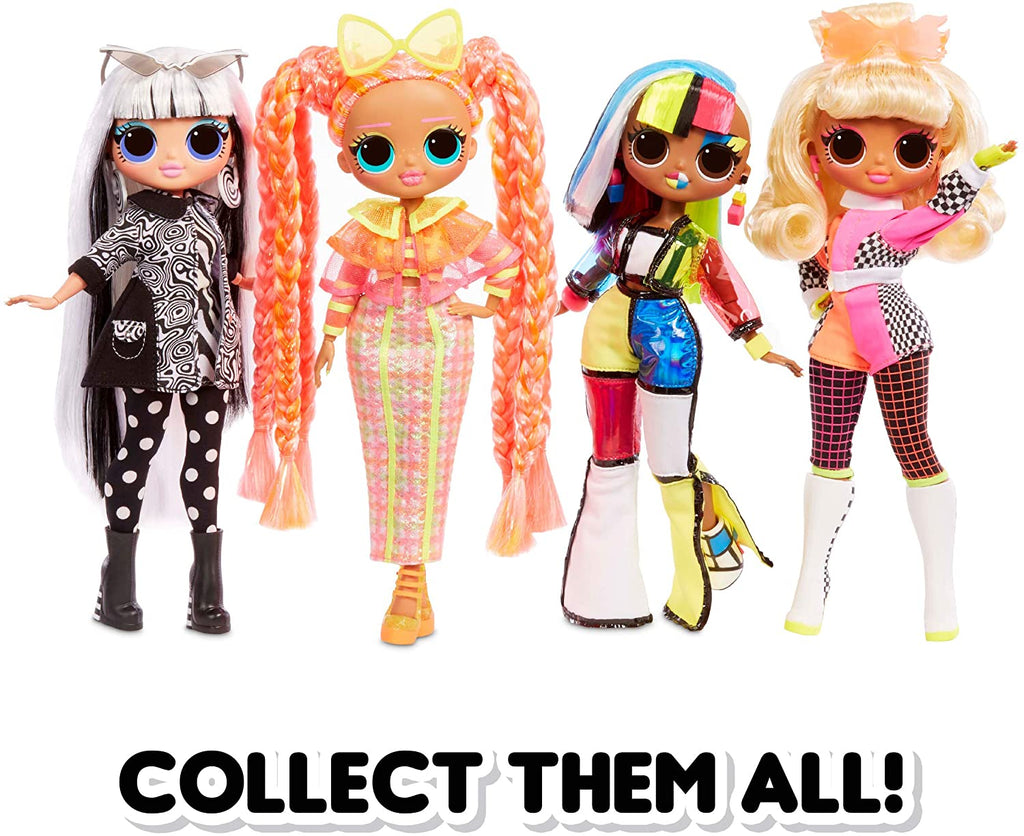 L.O.L LOL Surprise - OMG LIGHTS Complete set of 4 Fashion Dolls with 15 surprises each