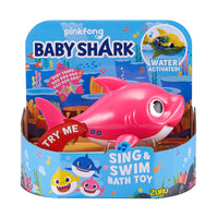 Robo Alive - BABY SHARK - Mommy shark PINK Sing & Swim Bath Toy