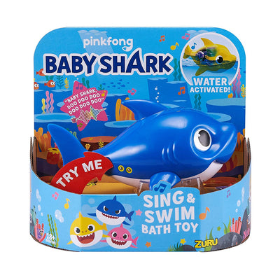 Robo Alive - BABY SHARK - Daddy shark BLUE Sing & Swim Bath Toy