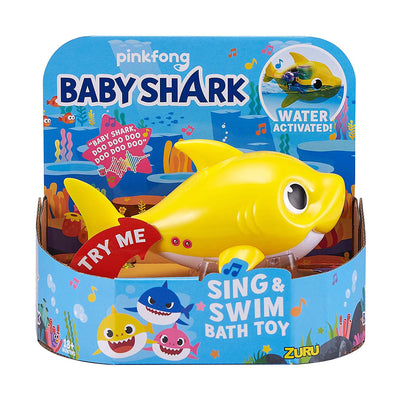 Robo Alive - BABY SHARK - Baby shark YELLOW Sing & Swim Bath Toy