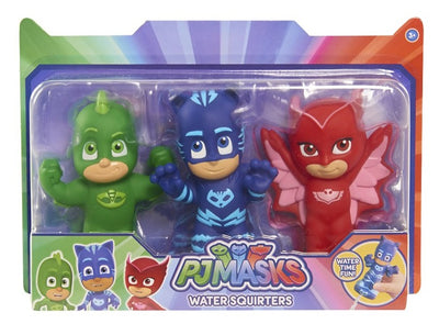PJ MASKS - Water Squirters Bath Toys - 3 pack with Catboy , Ghekko and Owlette
