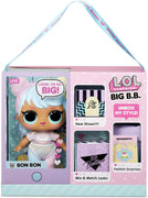 LOL Surprise - BIG B.B. BON BON - 27.5cm Large Doll unbox fashions, Shoes, Accessories , Includes Playset Desk, Chair & Backdrop
