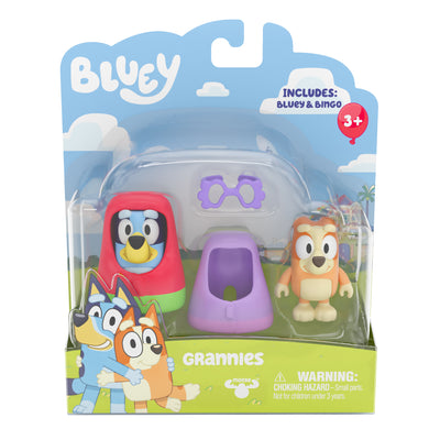 BLUEY - 2 pack figurines - GRANNIES with Bluey & Bingo