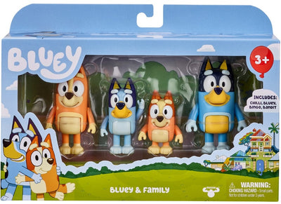 BLUEY - BLUEY 4 pack Figurines