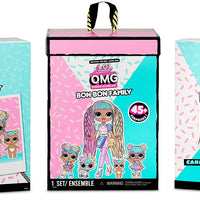 L.O.L LOL Surprise  - OMG Candylicious Family Bundle with OMG doll, 2 toys, pet and lil sister with 45+ surprises