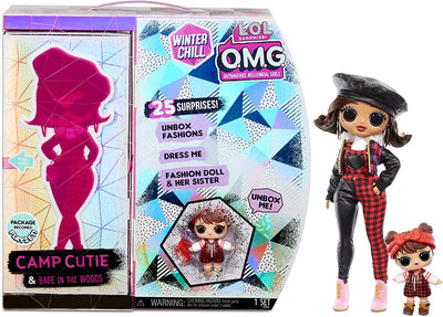 L.O.L LOL Surprise - OMG Winter Chill - CAMP CUTIE fashion doll & Babe in the woods Doll with 25+ surprises