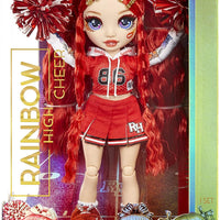 RAINBOW HIGH -  CHEER RUBY ANDERSON - Red Fashion Doll with Pom Poms, Cheerleader Doll