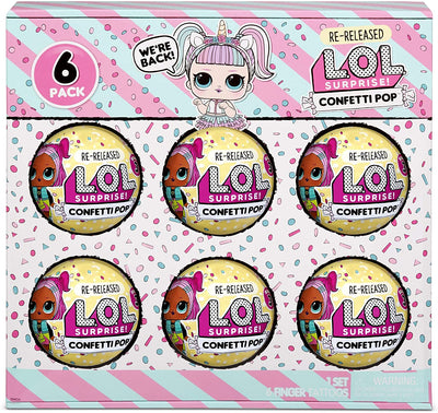 L.O.L LOL Surprise - Confetto Pop 6 pack Unicorn Gift pack- 6 Re Released dolls each with 9 surprises