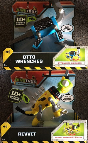 DINOTRUX - Reptool Buddies Otto and Revvit Bundle of 2- with 10+ Sounds and phrases