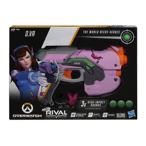 Nerf Rival - D.Va OVERWATCH Rival Blaster with 3 Overwatch Rival Rounds