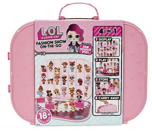 L.O.L LOL Surprise - Fashion Show On - The - Go Storage / Playset with bonus DOLL - Light Pink