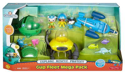 Octonauts - GUP FLEET MEGA PACK with GUP D, R, & E + Capt Barnacles, Kwazii, and PESO