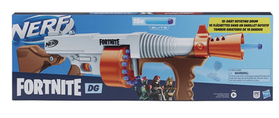 Nerf Fortnite DG Dart Blaster, 15 Official Darts ORANGE trigger USA only version (nerf rival)