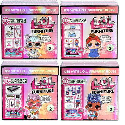 L.O.L LOL Surprise - Furniture SERIES 2 - COMPLETE SET OF 4