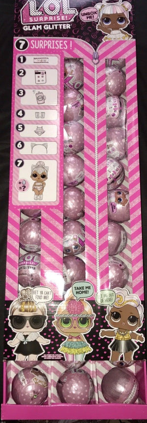 LOL Surprise Dolls - GLAM GLITTER SERIES - FULL DISPLAY UNOPENED BOX OF 36 DOLLS