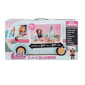 L.O.L LOL Surprise - 2 - in - 1 GLAMPER fashion Camper with 55+ Surprises
