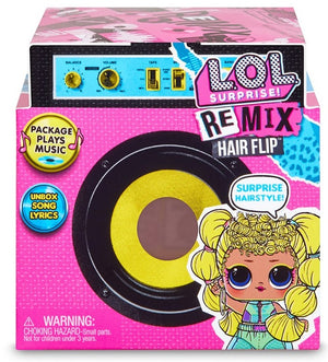 L.O.L LOL Surprise - REMIX - HAIR FLIP with 15 surprises with Hair Reveal & Music - 1 doll