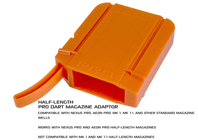 DART ZONE - (adventure force ) Nexus Pro and Aeon Pro ADAPTER for half length magazine - Coming Soon