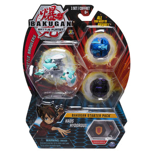 BAKUGAN Battle Planet - HAOS HYDOROUS Starter pack 3 - Pack