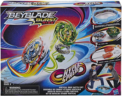 BeyBlade Burst RISE - HYPERSPHERE BATTLE SET Complete with 2 launchers, 2 battling tops, and Beystadium