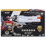 Nerf Rival - McCree Overwatch Blaster with Die Cast Badge & 6 rounds