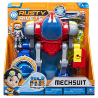 RUSTY RIVETS - Mechsuit, Snap 'n' Build Construction with Lights, Sounds, and Rusty Figure - on clearance
