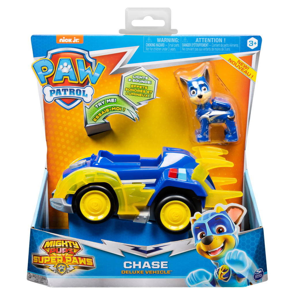 Paw Patrol -  MIGHTY PUPS - CHASE Vehicle with removable pups chase LIGHTS & SOUNDS