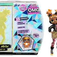 L.O.L LOL Surprise - OMG Winter Chill - MISSY MEOW fashion doll & Baby Cat Doll with 25+ surprises