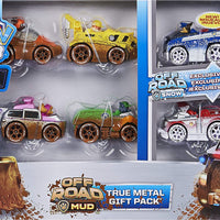 Paw Patrol  - OFF-ROAD 6 PACK GIFT SET Diecast Vehicles Chase,Marshall,Rocky,Rubble,Zuma,Skye