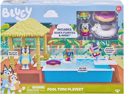 BLUEY - Pool Time Playset and Bluey figure + Accessories
