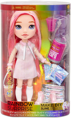 RAINBOW HIGH -  Rainbow Surprise 14 inch Doll 35cm - Pixie Rose Doll wit DIY Slime Fashion