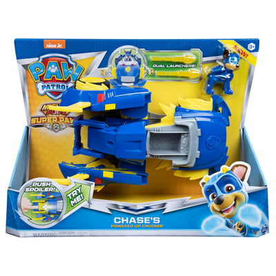 Paw Patrol -  MIGHTY PUPS - Super PAWs Chase's Powered Up Cruiser Transforming Vehicle