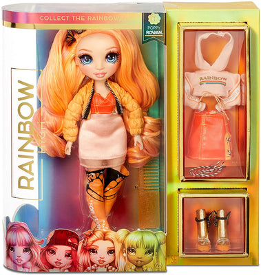 RAINBOW HIGH - Poppy Rowan - Orange Fashion Doll with 2 outfits