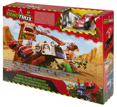 DINOTRUX - ROCK SLIDE PLAYSET + TY RUX