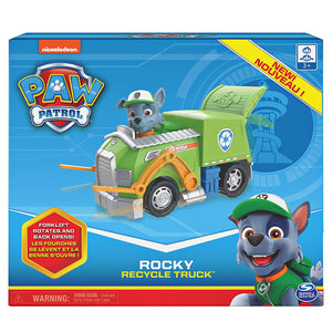 Paw Patrol - Rocky Recycle Truck with rocky figure