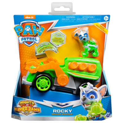 Paw Patrol -  MIGHTY PUPS - ROCKY Vehicle with removable pups chase LIGHTS & SOUNDS